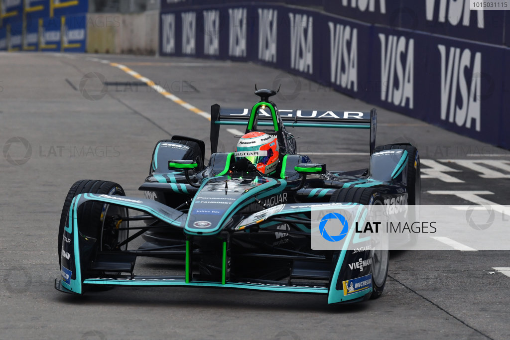 2017/2018 FIA Formula E Championship. Round 1 - Hong Kong, China. Saturday 02 December 2018. Nelson Piquet Jr. (BRA), Panasonic Jaguar Racing, Jaguar I-Type II. Photo: Mark Sutton/LAT/Formula E ref: Digital Image DSC_8376