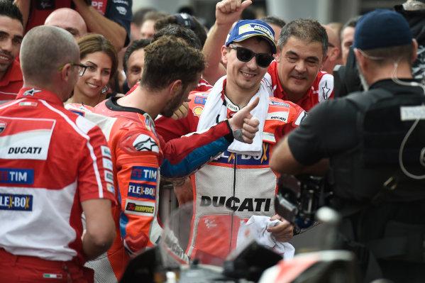 2017 MotoGP Championship - Round 17 Sepang, Malaysia. Sunday 29 October 2017 second place Jorge Lorenzo, Ducati Team World Copyright: Gold and Goose / LAT Images ref: Digital Image 26557