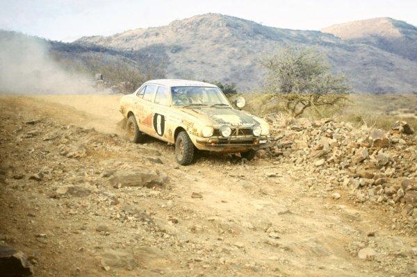 1976 World Rally Championship.Safari Rally, Kenya. 15-19 April 1976.Joginder Singh/David Doig (Mitsubishi Colt Lancer), 1st position.World Copyright: LAT PhotographicRef: 35mm transparency 76RALLY03