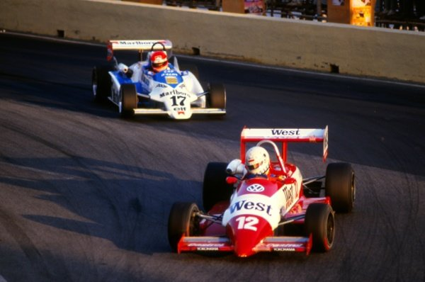 Christian Danner (GER) Bert Schafer.Macau Formula Three Grand Prix, Guia Circuit, Macau, 25 November 1985.