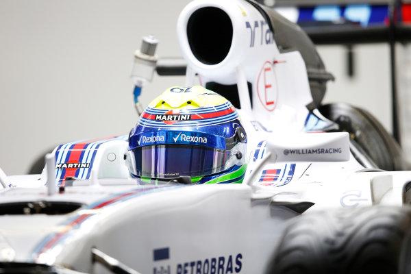 Shanghai International Circuit, Shanghai, China. Thursday 9 April 2015. Felipe Massa, Williams F1, in the garage. World Copyright: Charles Coates/LAT Photographic. ref: Digital Image _N7T2237