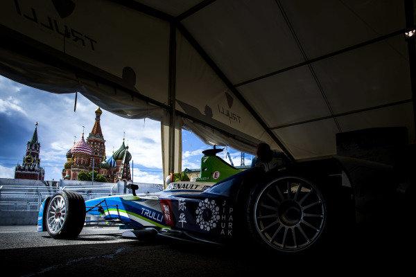 2014/2015 FIA Formula E Championship. Moscow ePrix, Moscow, Russia. Friday 5 June 2015 The car of Vitantonio Liuzzi (ITA)/Trulli Racing - Spark-Renault SRT_01E. Photo: Zak Mauger/LAT/Formula E ref: Digital Image _L0U0318