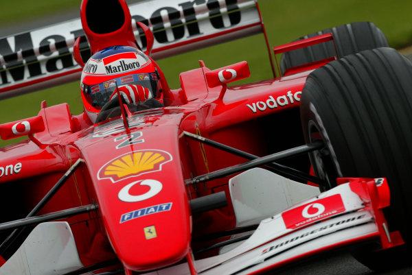 2002 Qantas Australian Grand Prix - race.Albert Park, Melbourne, Australia. 3rd March 2002.Rubens Barrichello (Ferrari F2001).World Copyright:Steve Etherington/LAT Photographic ref: 12 5mb Digital Image Only