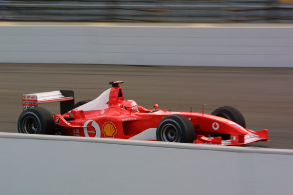 2002 American Grand Prix - Friday PracticeIndianapolis, USA. 27th September 2002Michael Schumacher.World Copyright - LAT Photographicref: Digital File Only