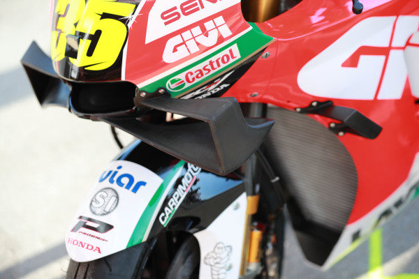 Bike of Cal Crutchlow, Team LCR Honda.