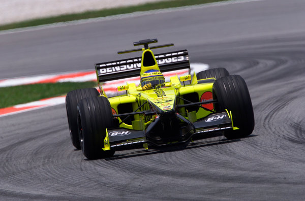 2001 Malaysian Grand Prix.Sepang, Kuala Lumpur, Malaysia. 16-18 March 2001.Jarno Trulli (Jordan EJ11 Honda).World Copyright - Steve Etherington/LAT Photographic.ref: 18mb Digital Image