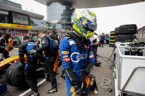 Lando Norris, McLaren MCL34 on the grid