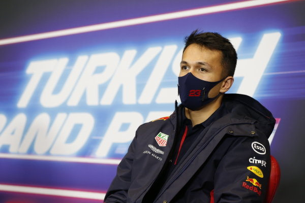 Alexander Albon, Red Bull Racing, in the press conference