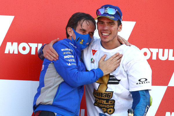 Davide Brivio, Joan Mir, Team Suzuki MotoGP.
