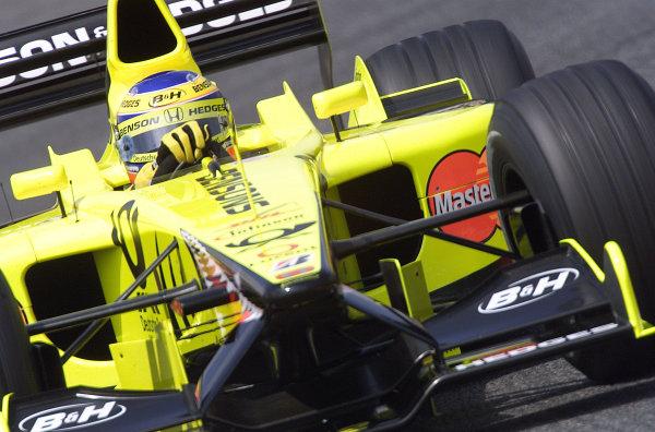 2001 Spanish Grand PrixCatalunya, Barcelona, Spain. 27-29 April 2001.Jarno Trulli (Jordan EJ11 Honda).World Copyright - Steve Etherington/LAT Photographicref: 18 mb Digital Image