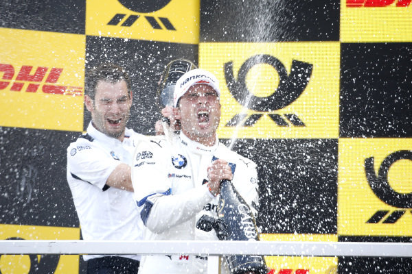 Podium: Race winner Bruno Spengler, BMW Team RMG.
