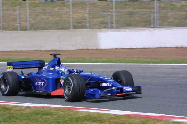 2001 Spanish Grand PrixCatalunya, Barcelona, Spain. 27-29 April 2001.Jean Alesi (Prost AP04 Acer).World Copyright - LAT Photographicref: 8 9 MB Digital File