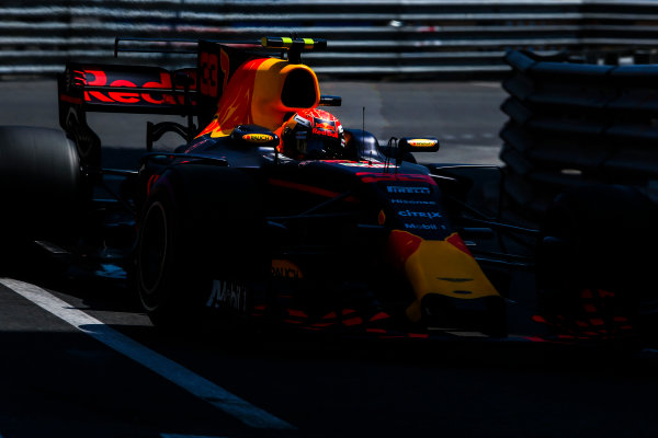 Monte Carlo, Monaco. Saturday 27 May 2017. Max Verstappen, Red Bull Racing RB13 TAG Heuer.  World Copyright: Charles Coates/LAT Images ref: Digital Image AN7T7499