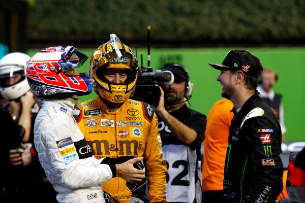 2017 Race of Champions Miami, Florida, USA Sunday 22 January 2017 Jenson Button, Kyle Busch and Kurt Busch World Copyright: Alexander Trienitz/LAT Photographic ref: Digital Image 2017-RoC-MIA-AT2-3092
