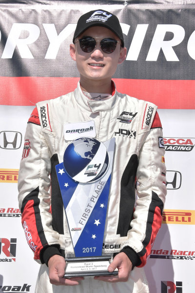 2017 F4 US Championship Rounds 1-2-3 Homestead-Miami Speedway, Homestead, FL USA Sunday 9 April 2017 Race #3 winner, Timo Reger World Copyright: Dan R. Boyd/LAT Images