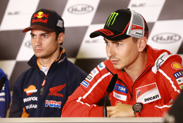 2017 MotoGP Championship - Round 5 Le Mans, France Thursday 18 May 2017 Dani Pedrosa, Repsol Honda Team, Jorge Lorenzo, Ducati Team World Copyright: Gold & Goose Photography/LAT Images ref: Digital Image 670411