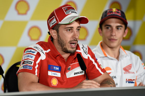 2017 MotoGP Championship - Round 17 Sepang, Malaysia. Thursday 26 October 2017 Andrea Dovizioso, Ducati Team World Copyright: Gold and Goose / LAT Images ref: Digital Image 701415