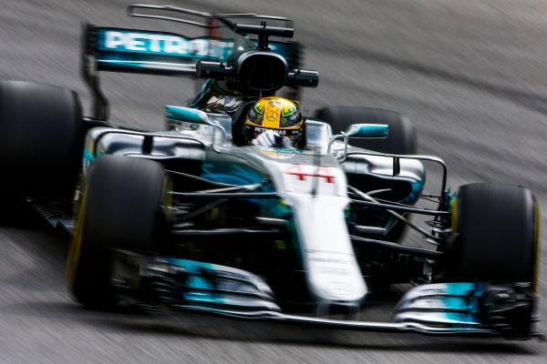 Interlagos, Sao Paulo, Brazil. Friday 10 November 2017. Lewis Hamilton, Mercedes F1 W08 EQ Power+.  World Copyright: Andy Hone/LAT Images  ref: Digital Image _ONZ3966
