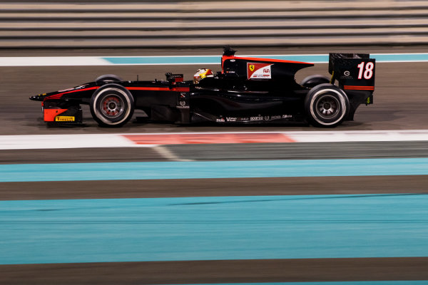2017 FIA Formula 2 Test 3. Yas Marina Circuit, Abu Dhabi, United Arab Emirates. Saturday 2 December 2017. Guanyu Zhou (CHN, Rapax).  Photo: Zak Mauger/FIA Formula 2. ref: Digital Image _O3I6312