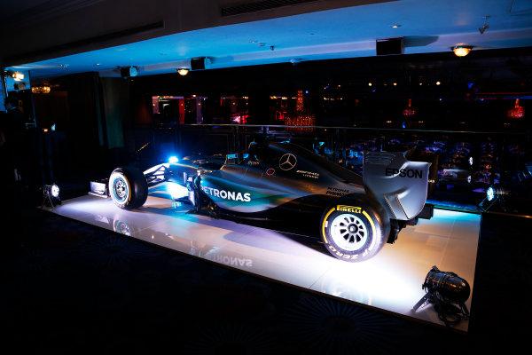 2015 Autosport Awards. Grosvenor House Hotel, Park Lane, London. Sunday 6 December 2015. Mercedes display. World Copyright: Adam Warner/LAT Photographic. ref: Digital Image _L5R8931