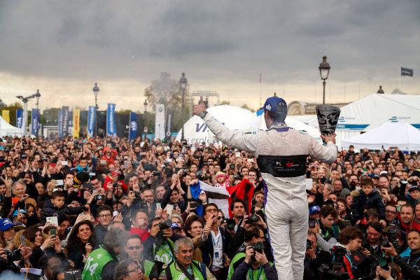 Race. Jean-Eric Vergne (FRA), DS Virgin Racing DSV-01 . Paris e-Prix,  Paris, France, Europe. Saturday 23 April 2016 Photo: Adam Warner /LAT/FE ref: Digital Image _L5R8072