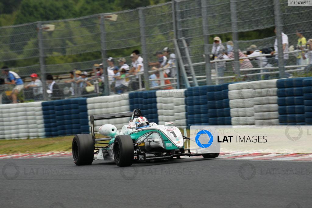 2010 Japanese Formula Three ChampionshipOkayama, Japan. 4th September 2010 2010 Champion Yuji Kunimoto ( #1 PETRONAS TEAM TOM'S ) action World Copyright: Yasushi Ishihara/LAT Photographicref: 2010JF3_R12_008