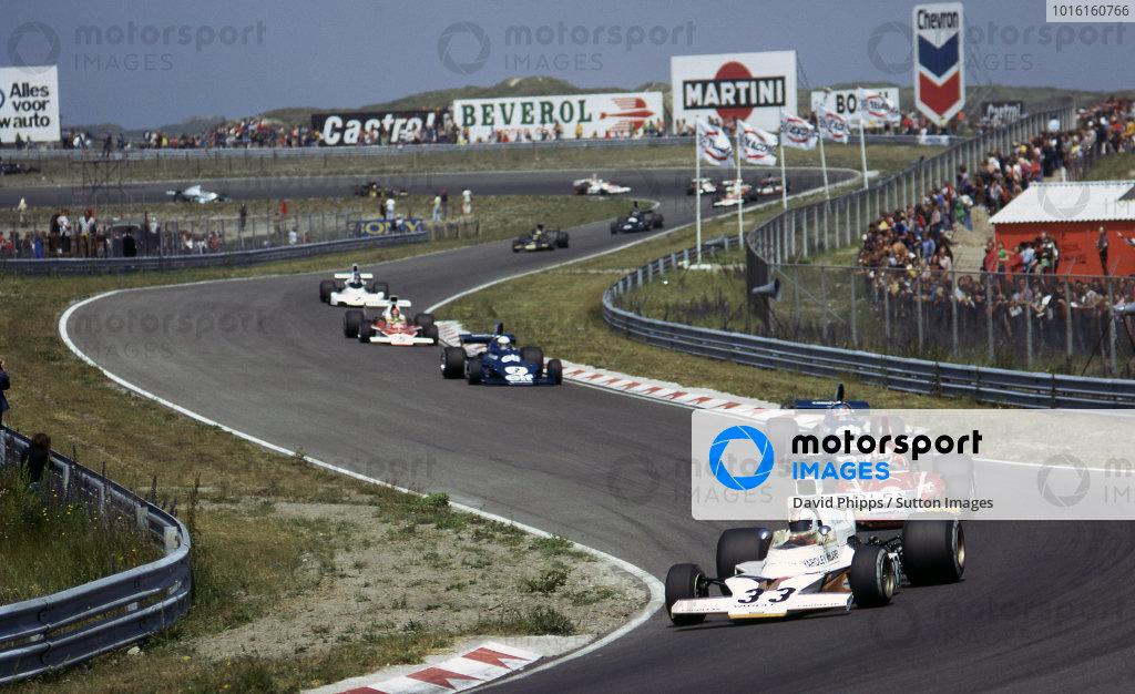 Mike Hailwood (GBR) McLaren M23, finished fourth. Formula One World Championship, Dutch Grand Prix, Rd8, Zandvoort, The Netherlands, 23 June 1974.