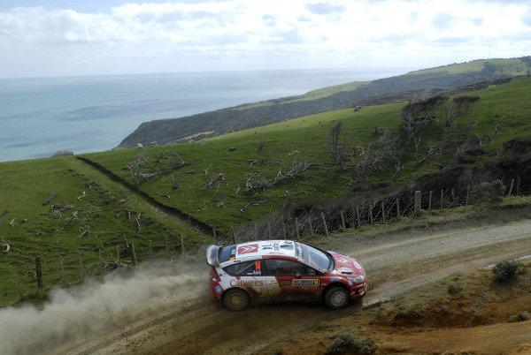 Urmo Aava (EST), Citroen C4 WRC, on stage 15.FIA World Rally Championship, Rd11, Repco Rally New Zealand, Day Three, Sunday 31 August 2008.