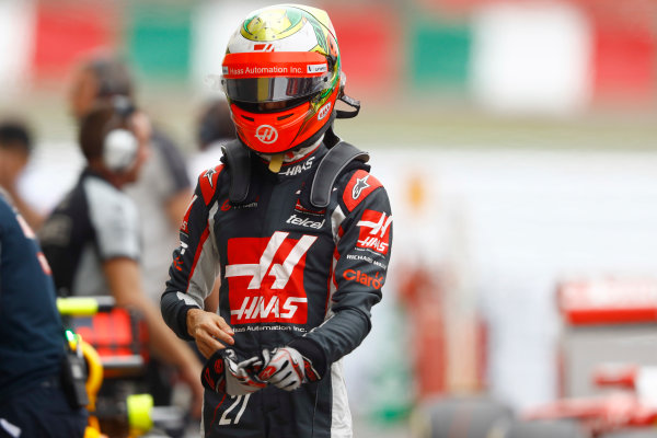 Suzuka Circuit, Japan. Saturday 8 October 2016. Esteban Gutierrez, Haas F1, in Parc Ferme after Qualifying. World Copyright: Tee/LAT Photographic ref: Digital Image _O3I6209