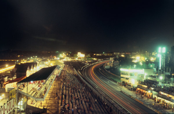 Le Mans, France. 10th - 11th June 1978 The main pit straight at night, atmosphere World Copyright: LAT PhotographicRef: 78LM16.