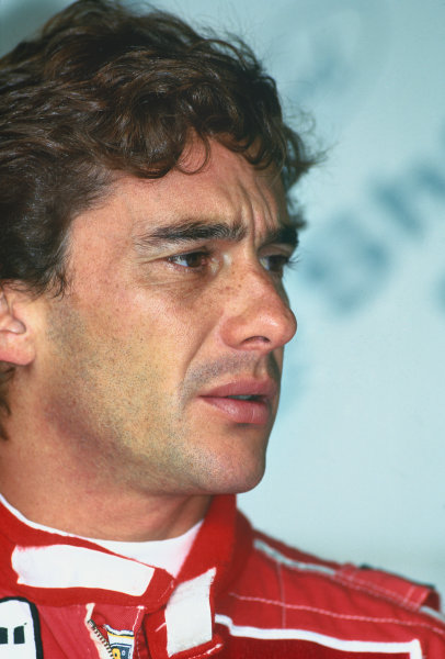 Ayrton Senna (McLaren Honda MP4/7A), portrait.World Copyright: LAT Photographic.Ref:  Colour Transparency.