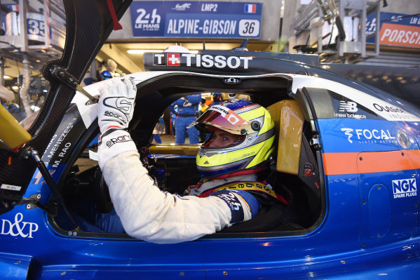 2017 Le Mans 24 Hours Circuit de la Sarthe, Le Mans, France. Wednesday 14 June 2017 Gustavo Menezes, Signatech World Copyright: Rainier Ehrhardt/LAT Images ref: Digital Image 24LM-re-6369