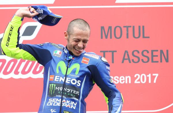 2017 MotoGP Championship - Round 8 Assen, Netherlands Sunday 25 June 2017 Podium: Race winner Valentino Rossi, Yamaha Factory Racing World Copyright: David Goldman/LAT Images ref: Digital Image 680259