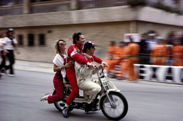 Bruno Giacomelli and Patrick Depailler.