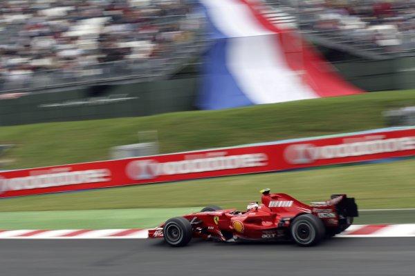 2007 French Grand Prix - Friday PracticeCircuit de Nevers Magny Cours, Nevers, France.29th June 2007.Kimi Raikkonen, Ferrari F2007. Action. World Copyright: Steven Tee/LAT Photographicref: Digital Image YY2Z4332