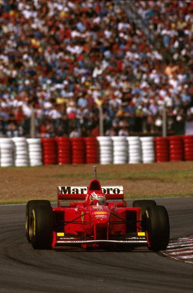 Buenos Aires, Argentina.11-13 APRIL 1997.Eddie Irvine (Ferrari F310B) 2nd position. World Copyright - LAT Photographic