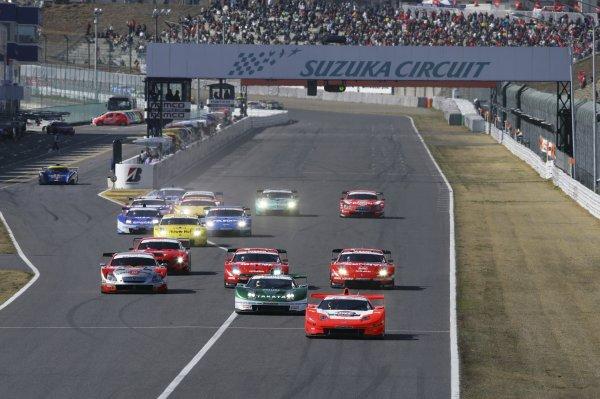 2006 Japanese Super GT ChampionshipSuzuka, Japan. 19th March 2006Start of the GT500 race.World Copyright: Yasushi Ishihara/LAT Photographicref: Digital Image2006SGT_R1_001 JPG(2 3MB)