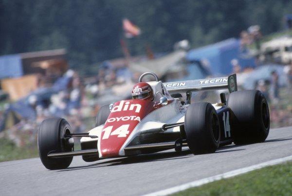 1981 Austrian Grand Prix.Osterreichring, Austria. 14-16 August 1981.Eliseo Salazar (Ensign N180B-Ford Cosworth), retired.World Copyright: LAT PhotographicRef: 35mm transparency 81AUT04
