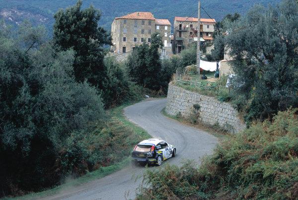 2003 World Rally ChampionshipTour De Corsica. 15th - 19th October 2003.Mikko Hirvonen/Jamo Lehtinen Ford Focus _RS WRC03,action World Copyright: McKlien/ LAT Photographicref: 35mm Corsica14