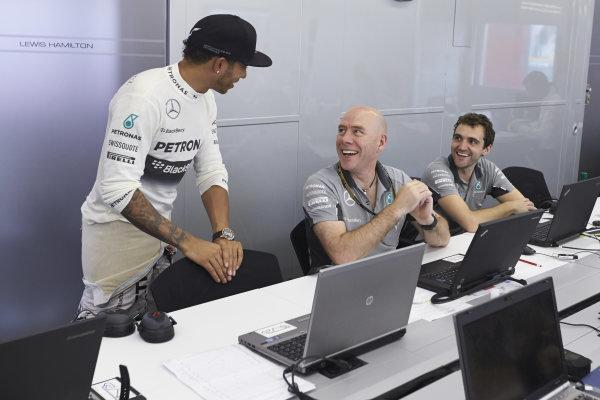 Circuit de Catalunya, Barcelona, Spain. Sunday 11 May 2014. Lewis Hamilton, Mercedes AMG. World Copyright: Steve EtheringtonLAT Photographic. ref: Digital Image SNE25659 copy