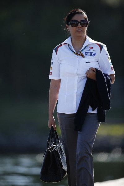 Circuit Gilles Villeneuve, Montreal, Canada. Saturday 7 June 2014. Monisha Kaltenborn, Team Principal and CEO, Sauber. World Copyright: Charles Coates/LAT Photographic. ref: Digital Image _J5R0935