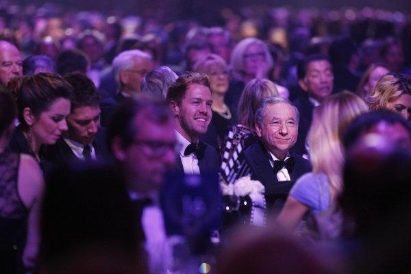 2013 FIA Gala Dinner and Awards. Paris, France. Friday 6th December 2013. Sebastian Vettel and Jean Todt. World Copyright & Mandatory Credit: FIA. ref: Digital Image 11243140824_a3afcfffb8_o