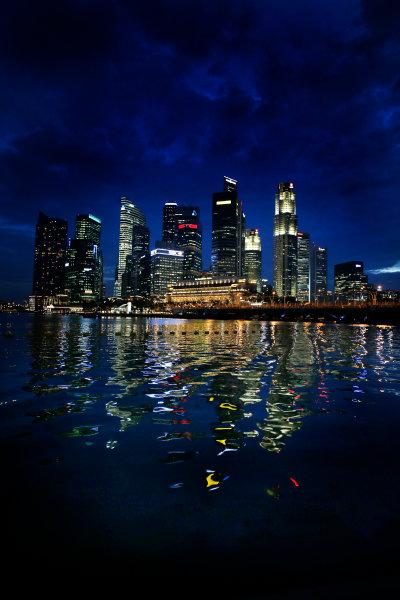 Marina Bay Circuit, Singapore. 18th September 2013. The cityscape of Singapore. World Copyright: Steven Tee/LAT Photographic. ref: Digital Image _14P2536
