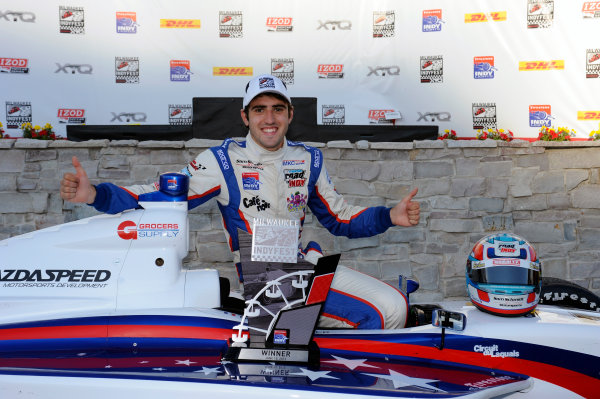 15 June, 2012, West Allis, Wisconsin USAWinner Tristan Vautier (#77) in Victory Lane.(c)2012, F. Peirce WilliamsLAT Photo USA