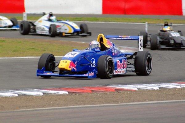 Race1 winner Christian Klien (AUT) JD Motorsport.German Formula Renault Championship, Rd6, Races 11 and 12, Nurburgring, Germany. 22 September 2002.DIGITAL IMAGE