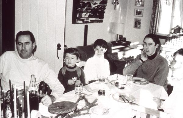 Sir Jack Brabham with his sons  L to R David, Gary, and Geoff.Formula One Drivers Childhood Photographs