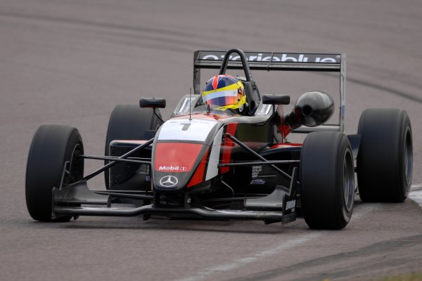 2007 British Formula Three Championship.Rockingham, England 29th and 30th September 2007.Stephen Jelley (GBR) Raikkonen Robertson Racing Dallara MercedesWorld Copyright: Jakob Ebrey/LAT