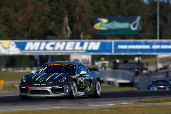 IMSA Continental Tire SportsCar Challenge Fox Factory 120 Road Atlanta, Braselton GA Thursday 5 October 2017 38, Porsche, Porsche Cayman GT4, GS, James Cox, John Tecce World Copyright: Jake Galstad LAT Images