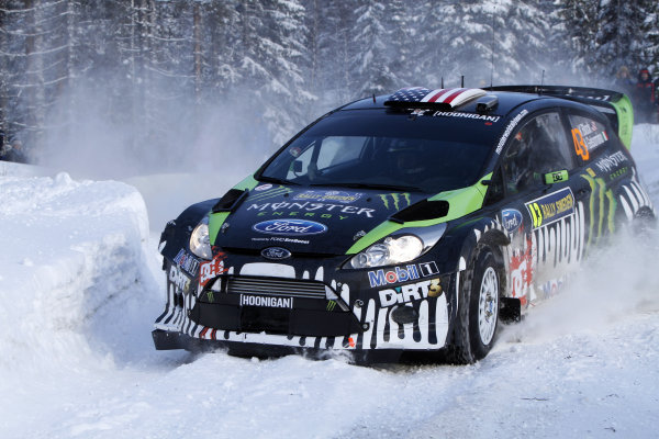 Round 01-Rally Sweden. 10th-13th February 2011.Ken Block, Ford WRC, Action.Worldwide Copyright: McKlein/LAT