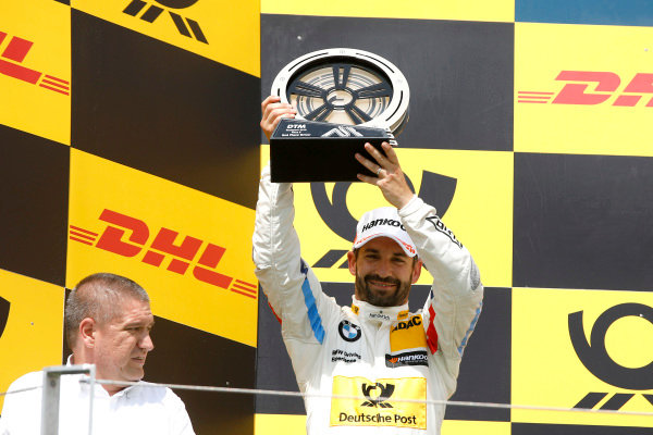 Podium: second place Timo Glock, BMW Team RMG.